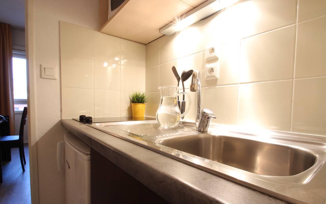 residence suiteasy montpellier citadelle studio cuisine