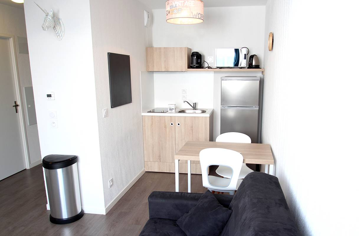 residence suiteasy h2o la rochelle appartement 2 pieces kitchenette