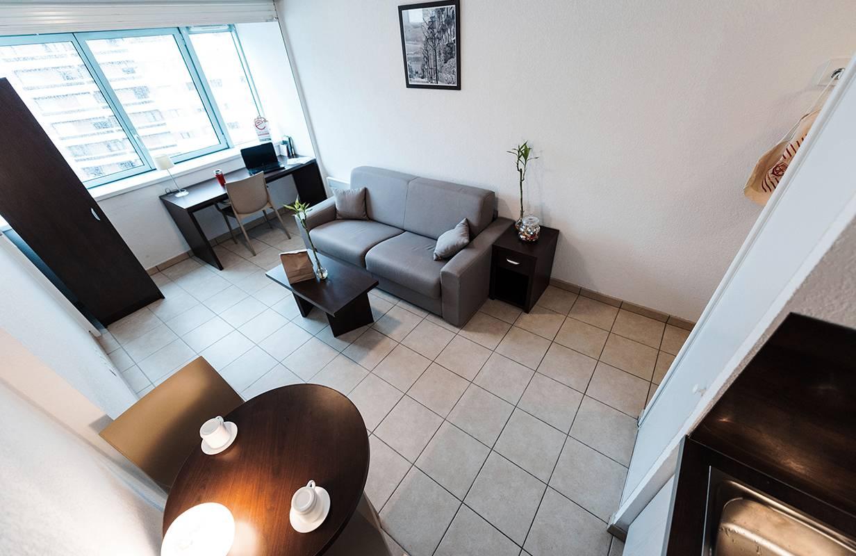 residence suiteasy parc avenue annemasse studio canape_1