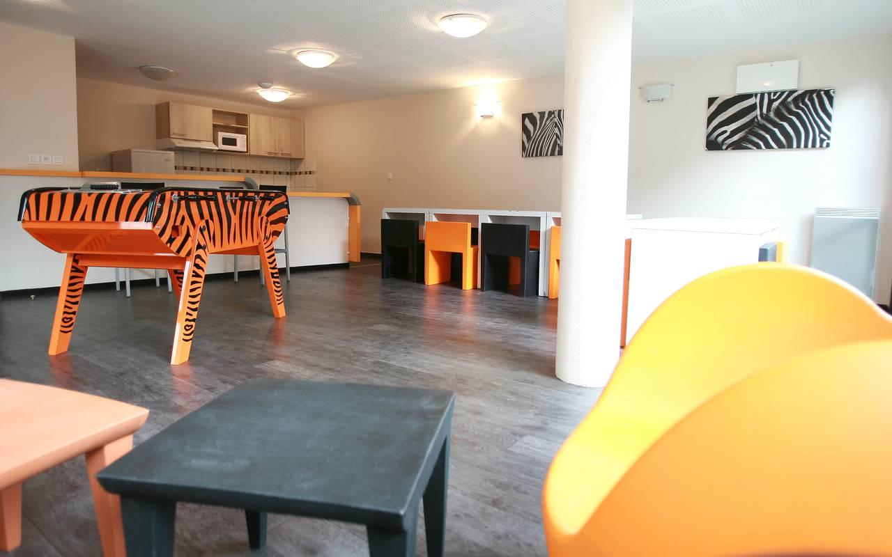 Salle détente résidence location court séjour à Valenciennes