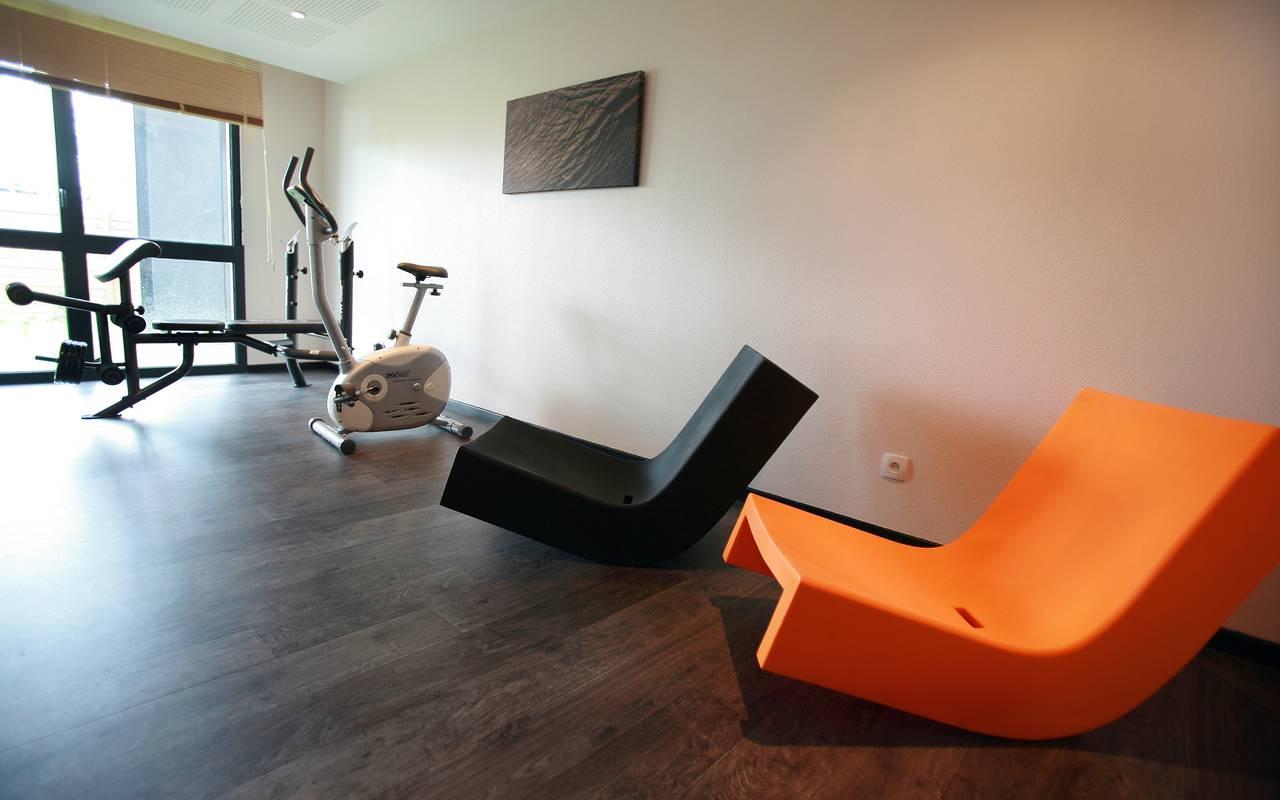 Salle fitness résidence location moyen séjour à Valenciennes