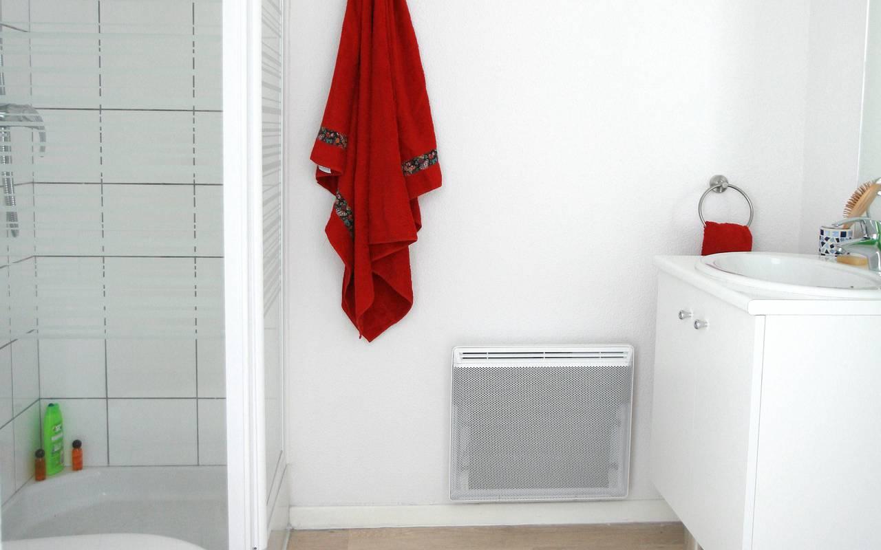 salle de douche studio location saisonnière à Valenciennes