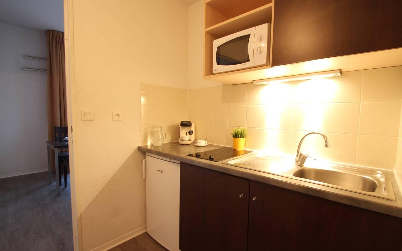 cuisine appartement location saisonnière à Montpellier
