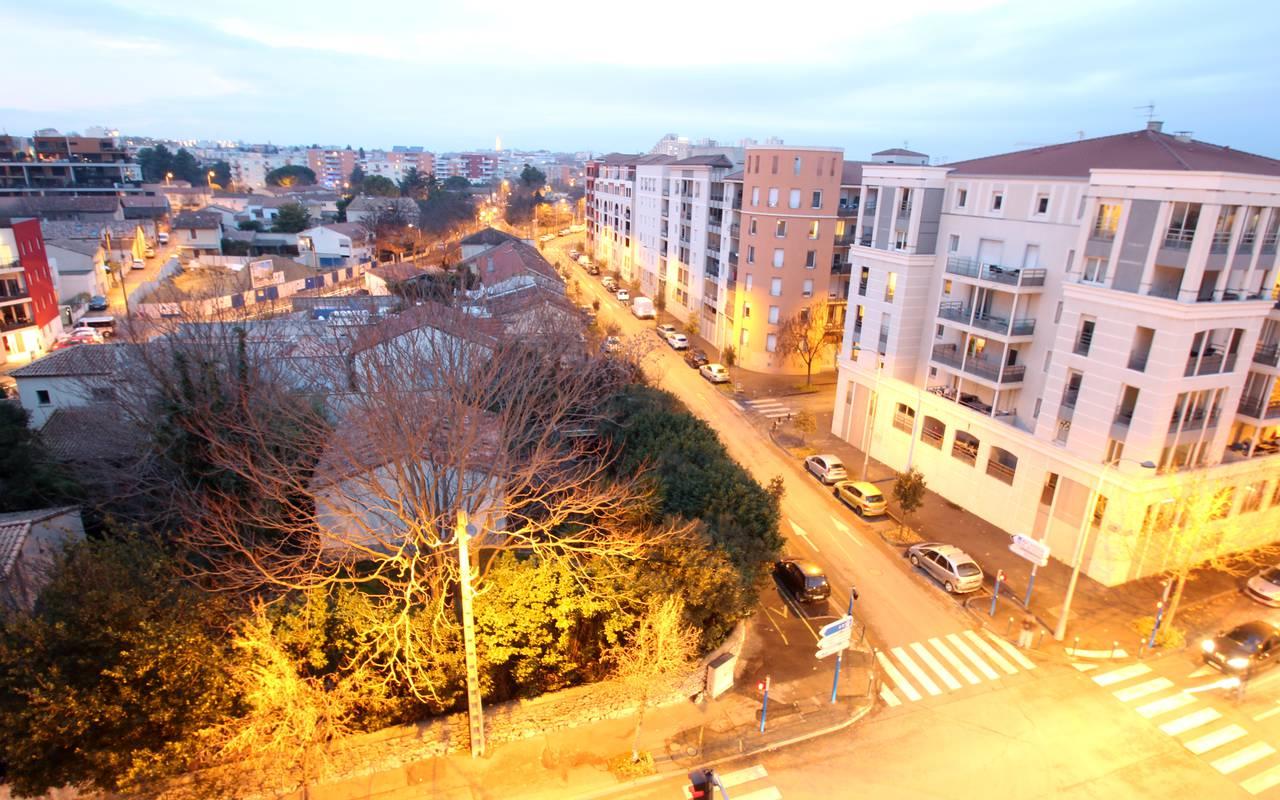 vue depuis résidence location court séjour à Montpellier