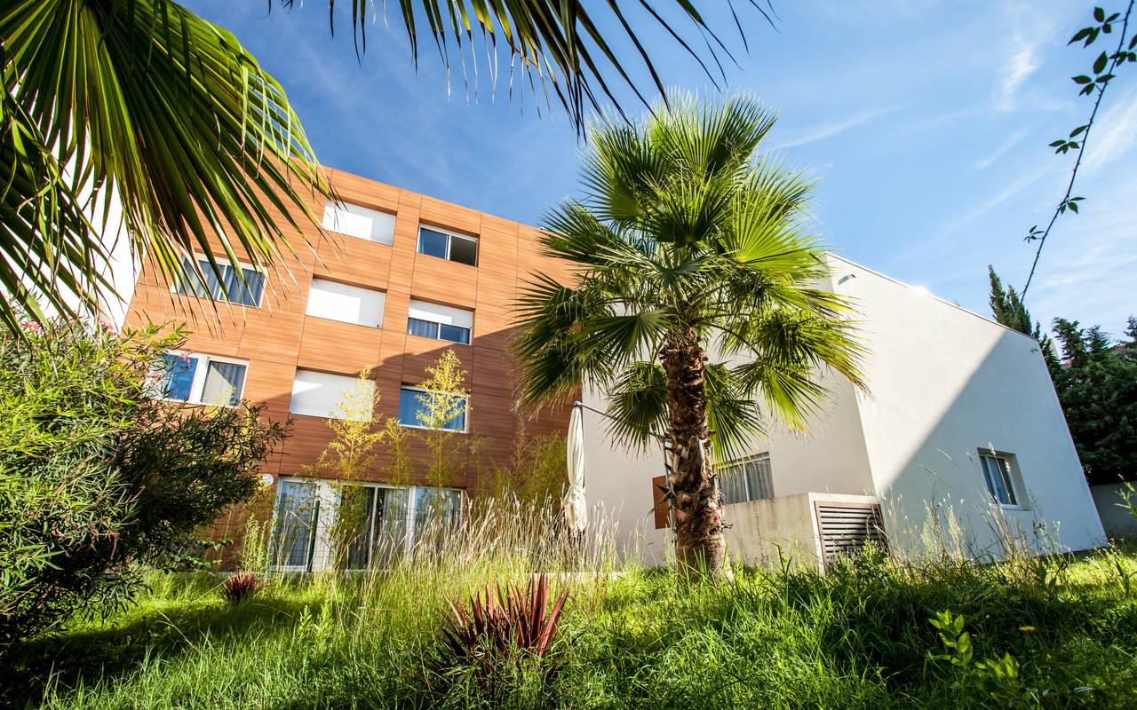 jardin résidence location saisonnière à Montpellier