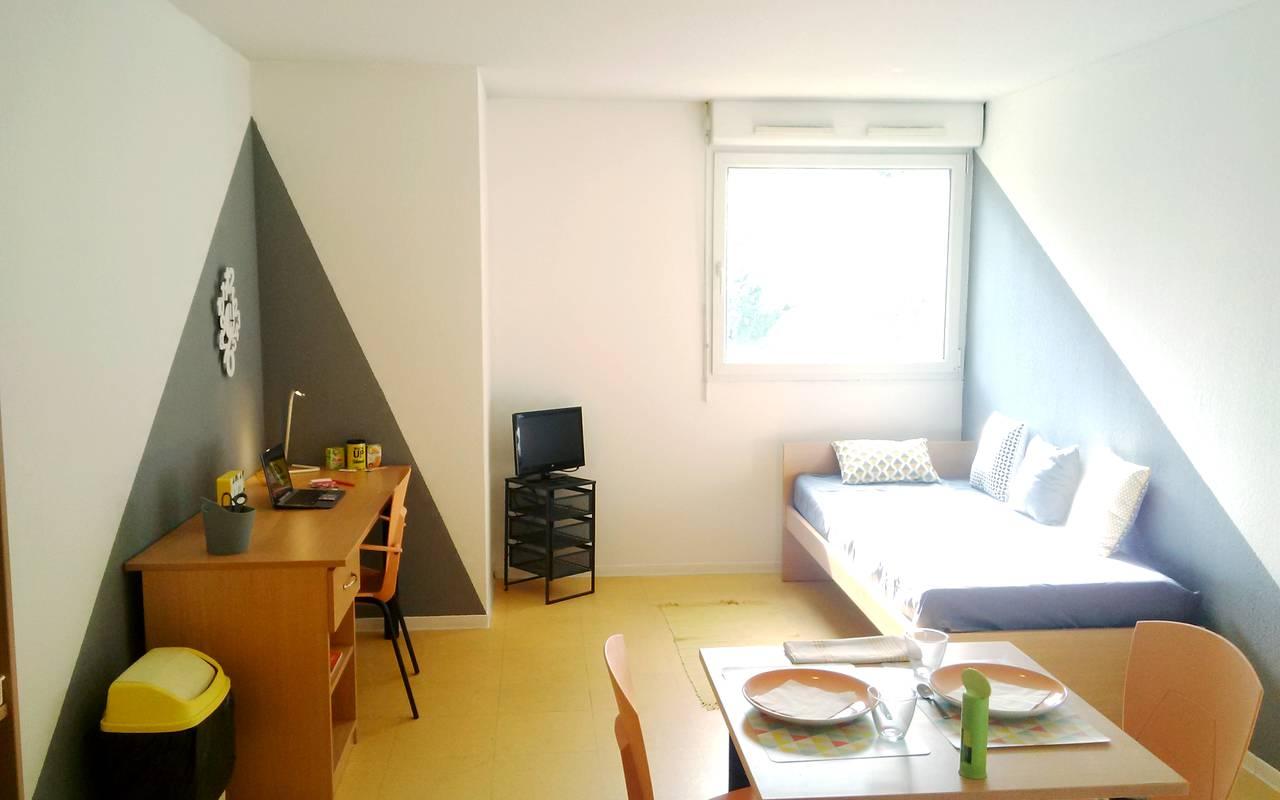studio location court séjour à Montpellier