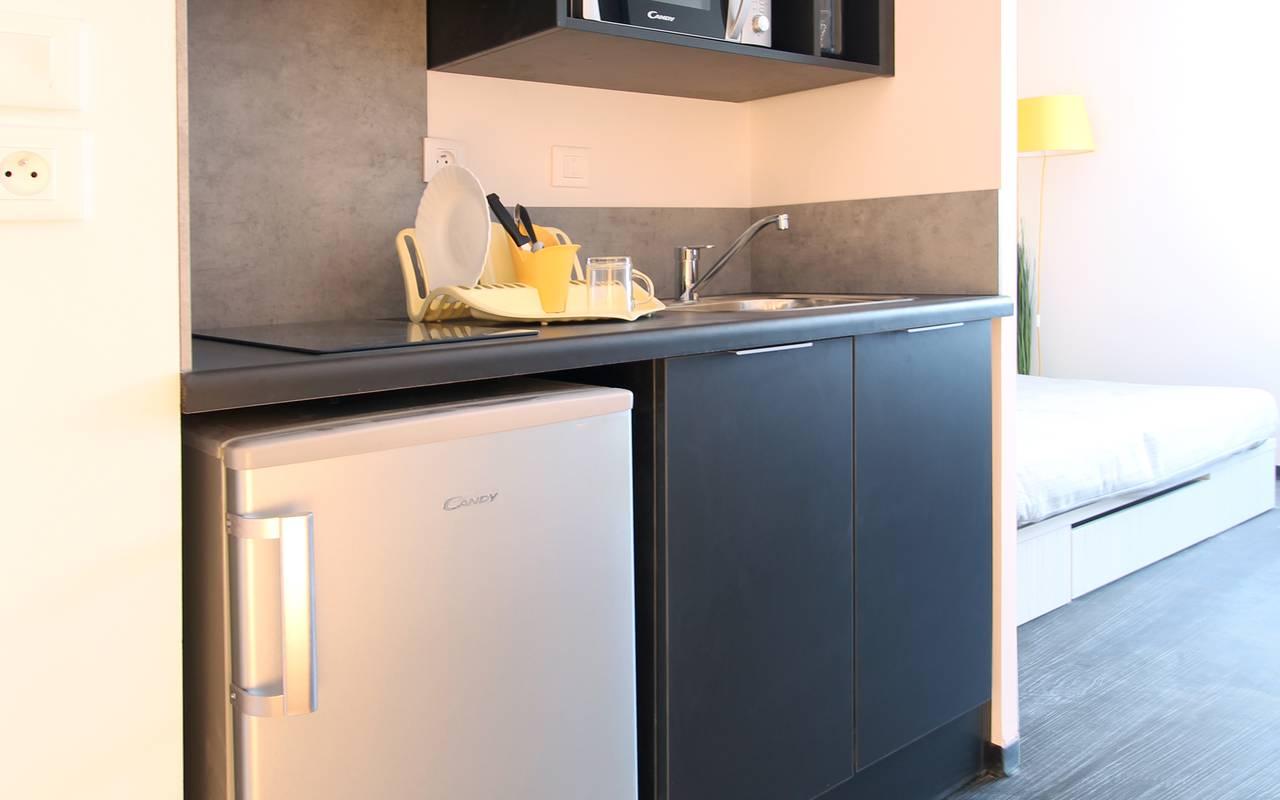 kitchenette studio location moyen séjour à Nimes