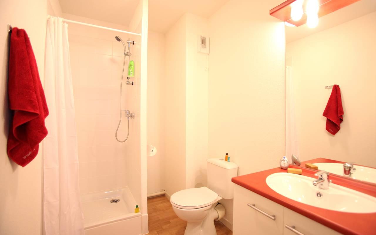 salle de bain appartement location saisonnière à Villeurbanne