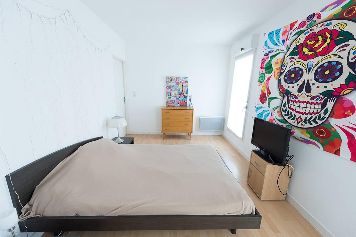 chambre appartement 3 pièces location saisonnière à Nantes