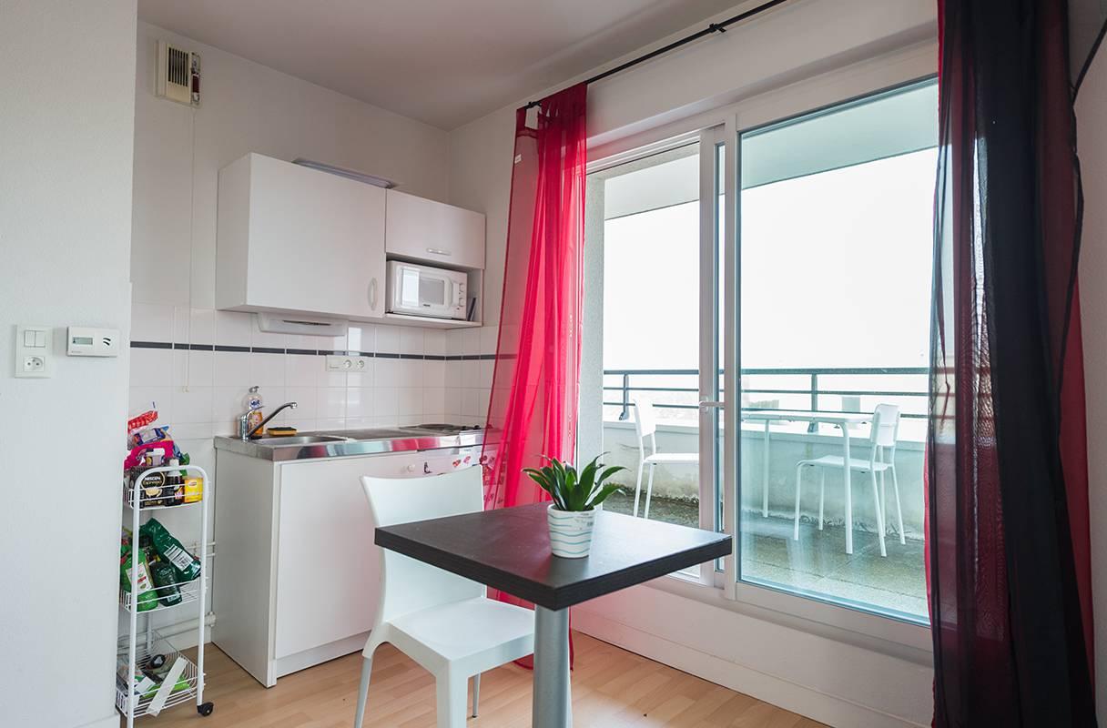 kitchenette studio location moyen séjour à Nantes