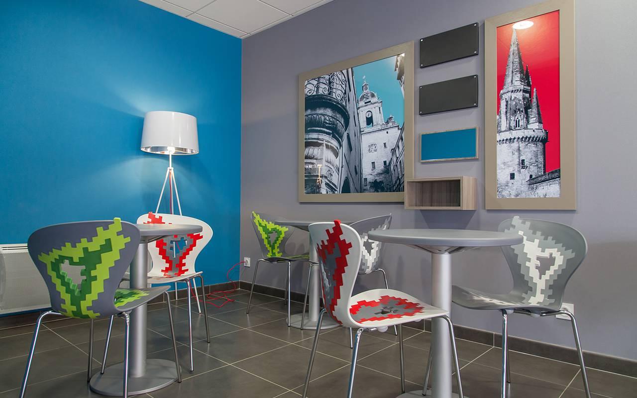 salle de détente résidence location saisonnière à La Rochelle