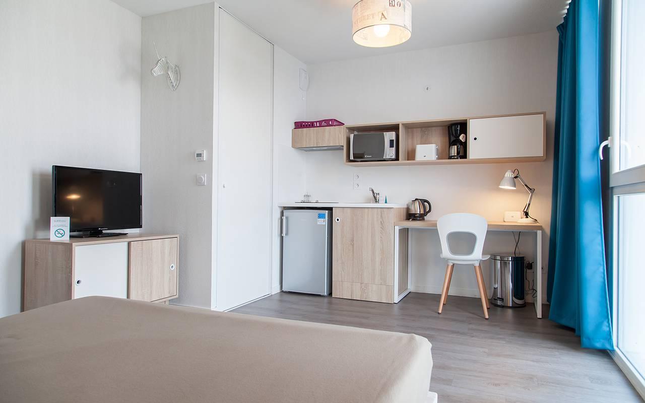 studio location court séjour à La Rochelle