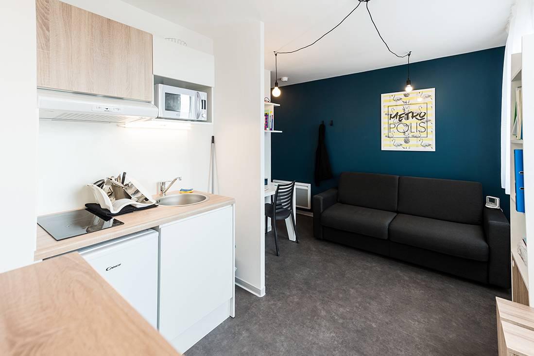 kitchenette appartement location court séjour à Rennes