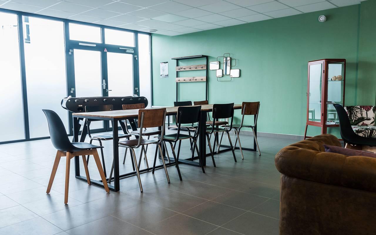 salle de détente résidence location moyen séjour à Rennes