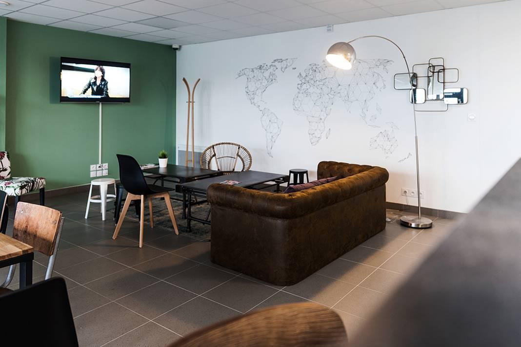 salle commune résidence location court séjour à Rennes