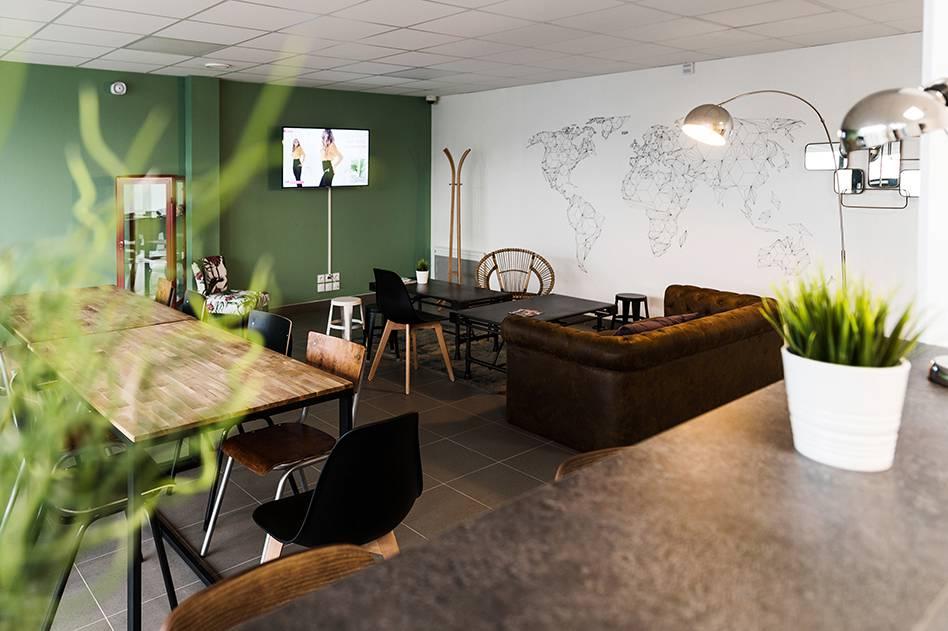 salle commune résidence location moyen séjour à Rennes