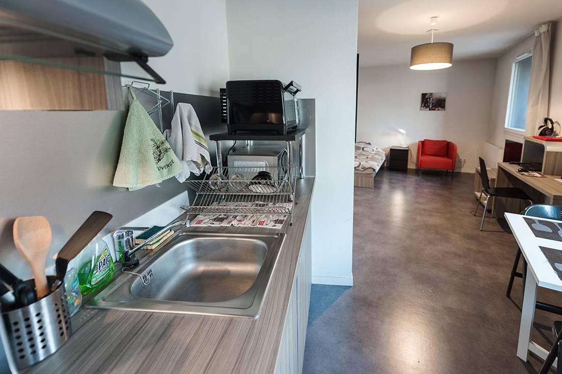 studio avec kitchenette location moyen séjour à Rouen