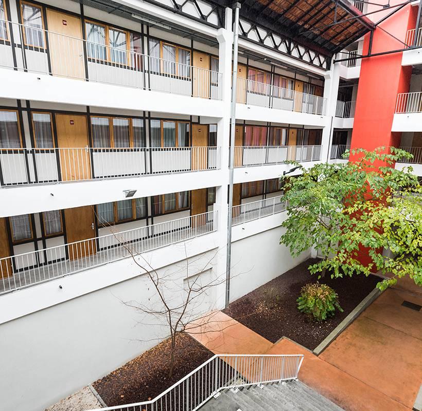 extérieur résidence location court séjour à Lyon