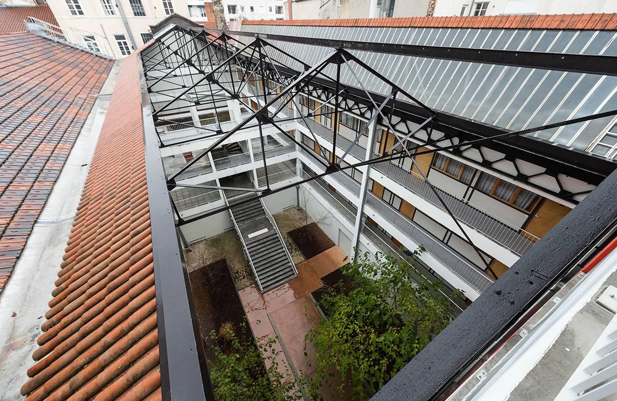vue sur résidence location séjour à Lyon