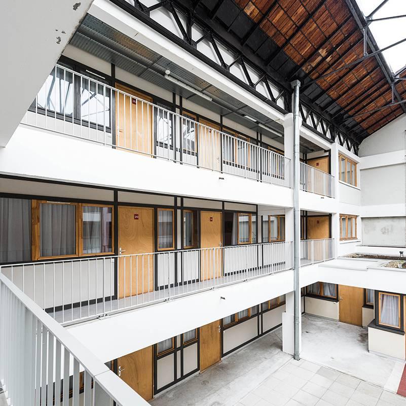 extérieur résidence location séjour à Lyon