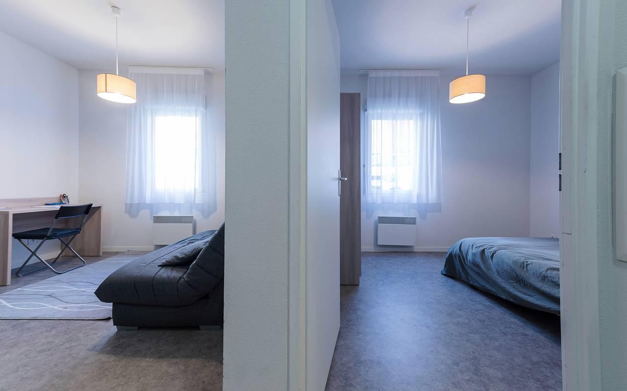 appartement 2 pièces location moyen séjour à Reims