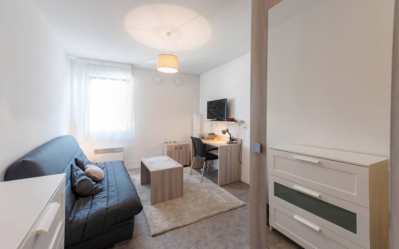 pièce à vivre appartement location court séjour à Reims
