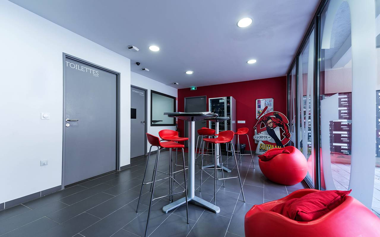 salle commune résidence location moyen séjour à Reims