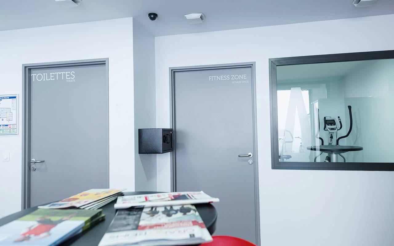 salle de fitness résidence location moyen séjour à Reims