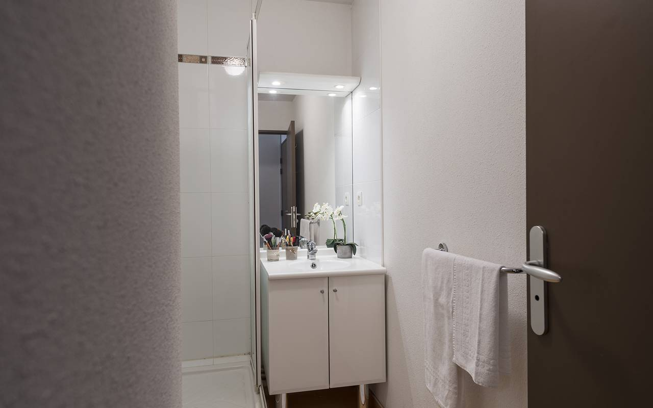salle de bain studio location court séjour à Toulouse