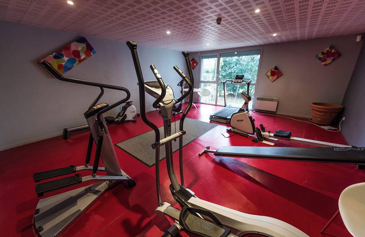 salle de fitness résidence location moyen séjour à Toulouse